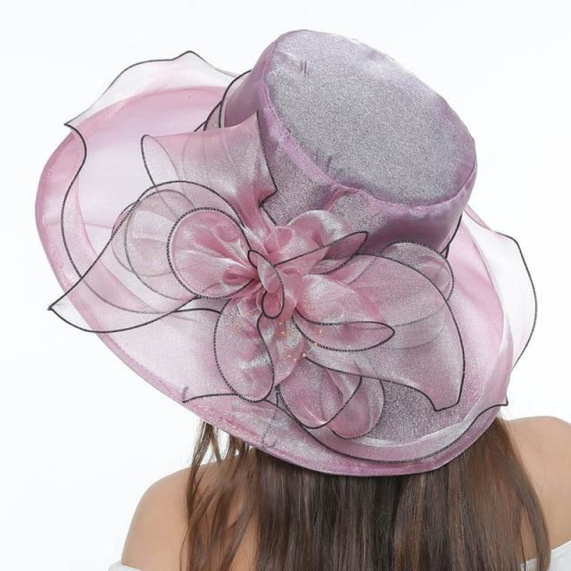 Church Bow Bucket Bowler Wide Brim Kentucky Derby Hats | Bridelily - Lavender - kentucky derby hats