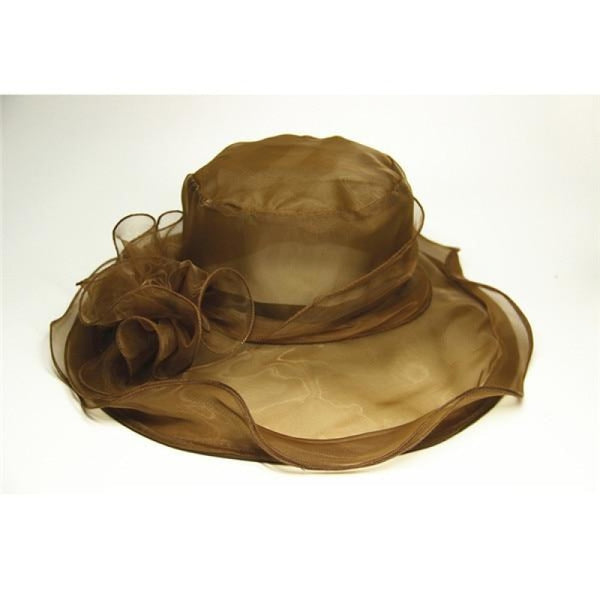 Church Bow Bucket Bowler Wide Brim Kentucky Derby Hats | Bridelily - Brown - kentucky derby hats