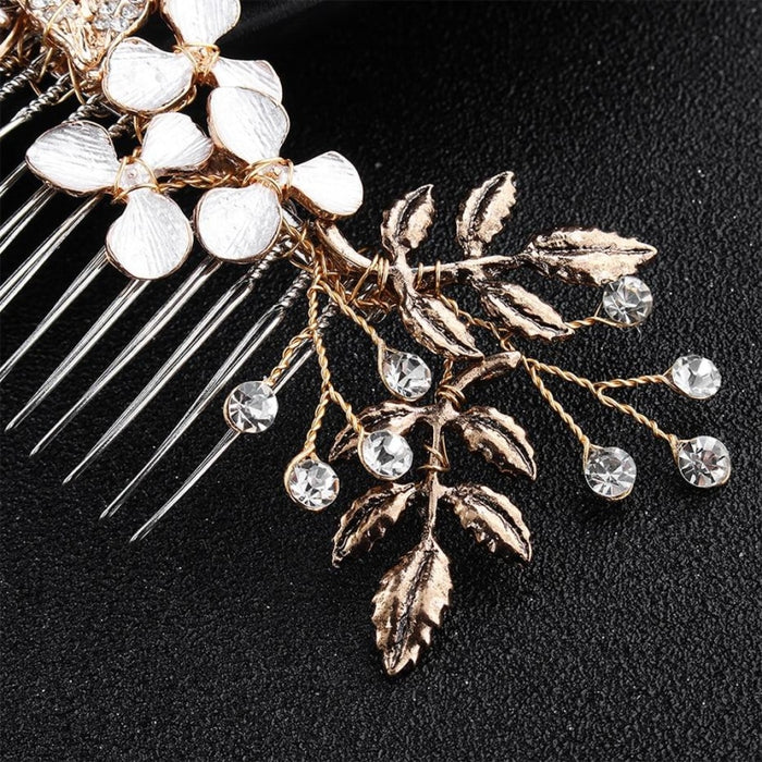Classic Black Gold Handmade Womens Combs & Barrettes | Bridelily - combs and barrettes