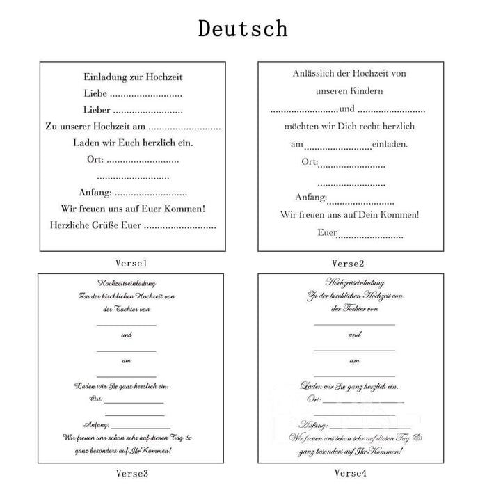 Classic Bowknot Style Tri-Fold Invitation Cards (Set of 50) | Bridelily - As shown in the picture / Deutsch / Verse1 - invitation cards