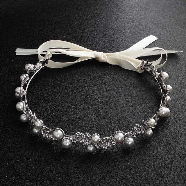 Classic Crystal Flower Princess Headbands | Bridelily - Silver - headbands