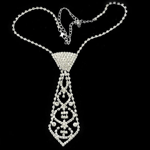 Classic Crystal Long Handmade Wedding Necklaces | Bridelily - necklaces