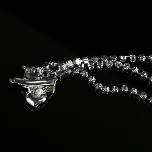 Clear Crystal Dangle Handmade Tiaras | Bridelily - tiaras