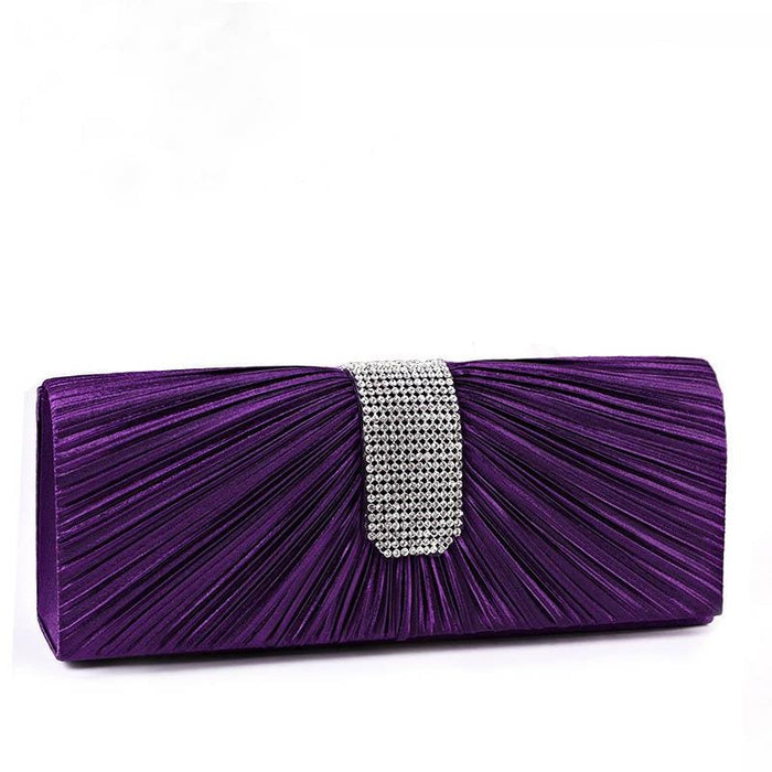 Clutches Rhinestone Chain Satin Wedding Handbags | Bridelily - wedding handbags