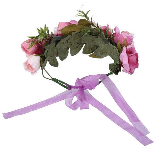 Crown Floral Bow Garland Flower Girl Accessories | Bridelily - flower girl accessories