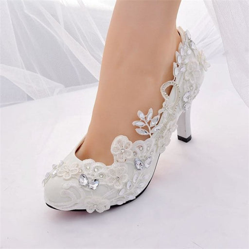Crystal Diamond High Heels Wedding Pumps | Bridelily - wedding pumps