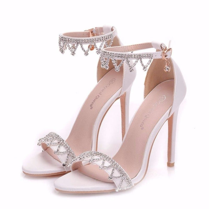 Crystal High Heel Handmade Wedding Sandals | Bridelily - wedding sandals