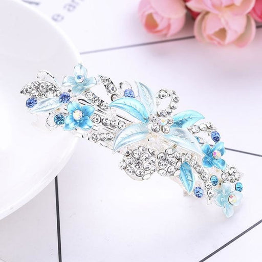 Crystal Shiny Leaves Flower Girl Accessories | Bridelily - blue - flower girl accessories