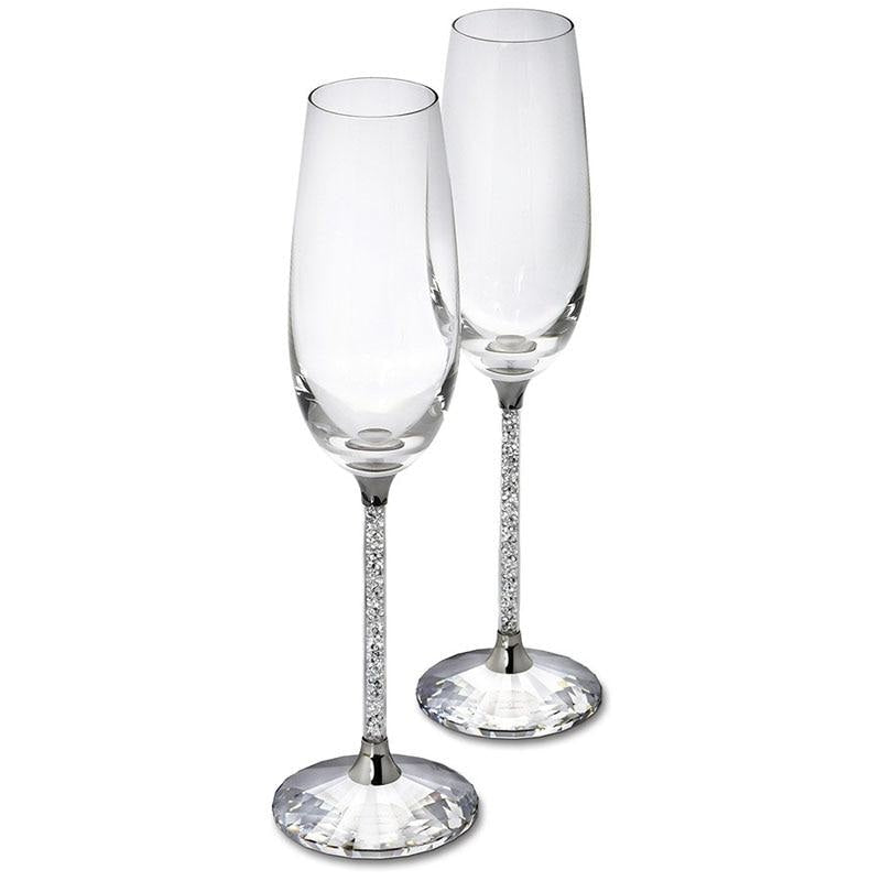 Crystalline Luxury Wedding Party Toasting Flutes | Bridelily - Toasting Flutes