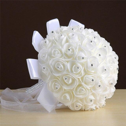 Crystals Ivory Flower Wedding Bouquets | Bridelily - wedding flowers