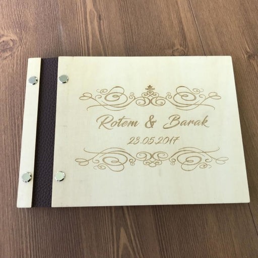 Custom Anniversay Gift Personalized Guestbooks | Bridelily - guestbooks