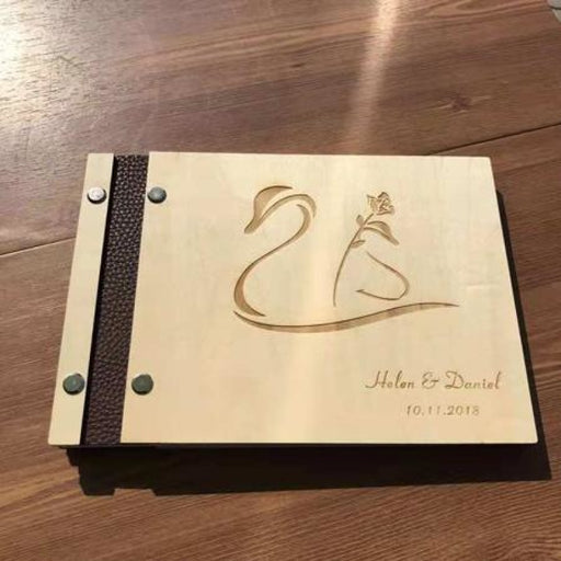 Custom Anniversay Gift Personalized Guestbooks | Bridelily - B - guestbooks