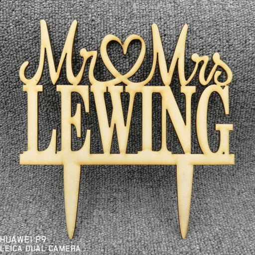 Custom Personalized Rustic Wedding Cake Toppers | Bridelily - cake toppers