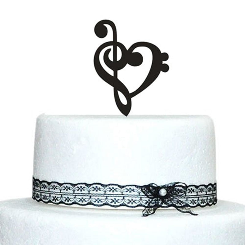 Customized Music Note Wedding Cake Toppers | Bridelily - cake toppers