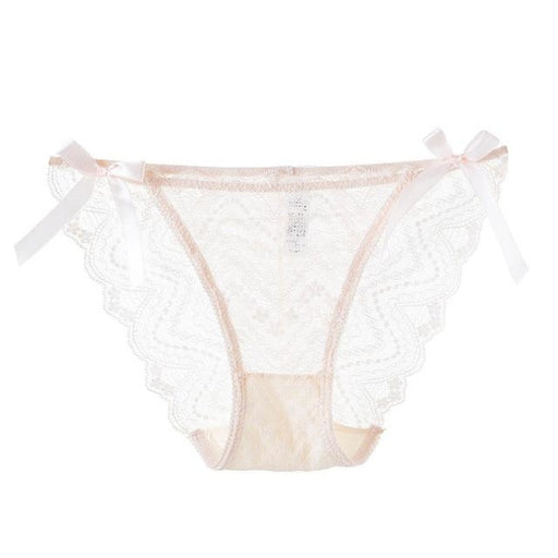 Cute Bow Transparent Ultra-thin Panties | Bridelily - Skin / L - panties