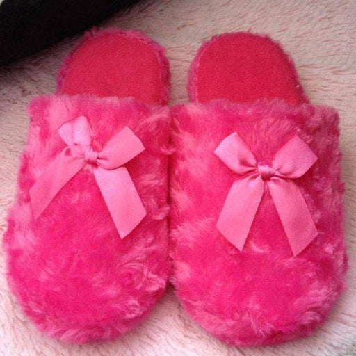 Cute Butterfly Knot Flat Indoor Home Shoes - home shoes