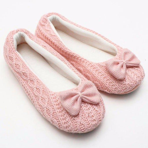 Cute Butterfly Knot Slip On Indoor Home Shoes - home shoes
