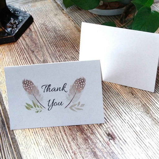 Cute Coloful Side Fold Thank you Cards(50PCS) | Bridelily - 1 - thnak you cards