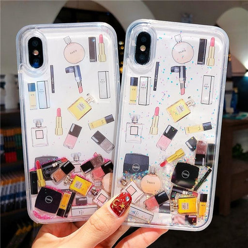 Cute Makeup Cosmetic Quicksand Case for iPhone