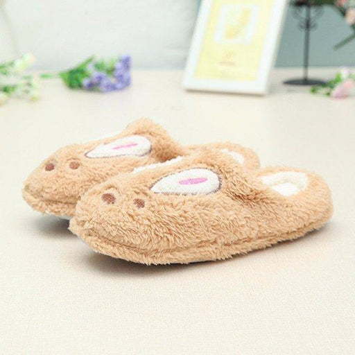Cute Rabbit Cover Toe Slip On Home Shoes Bunny Slippers - home shoes