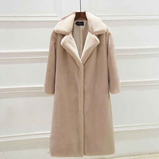 Daily Street Fashion Going out Winter Long Faux Fur Coat - womens furs & leathers