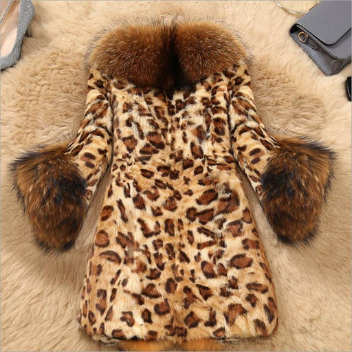 Daily Street Fashion Winter Plus Size Long Faux Fur Coats - womens furs & leathers
