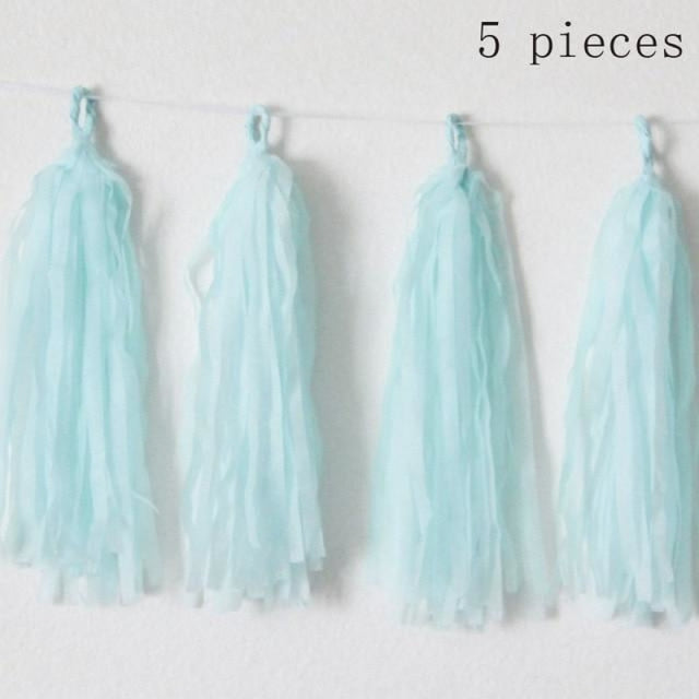 Decor Bridal Shower Decor Wedding Decorations | Bridelily - 5 pcs Tassel Blue - wedding decorations