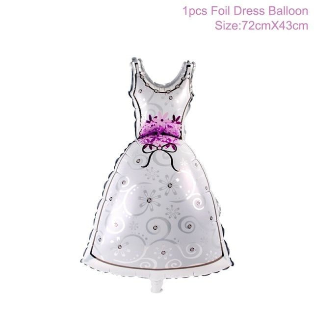 Decor Bridal Shower Decor Wedding Decorations | Bridelily - Bride Dress Balloon - wedding decorations