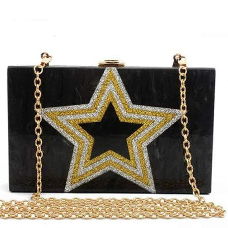Design Sequin Star Pattern Chain Wedding Handbags | Bridelily - wedding handbags