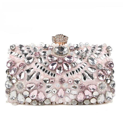 Diamond Clutches Pearls Beaded Wedding Handbags | Bridelily - wedding handbags