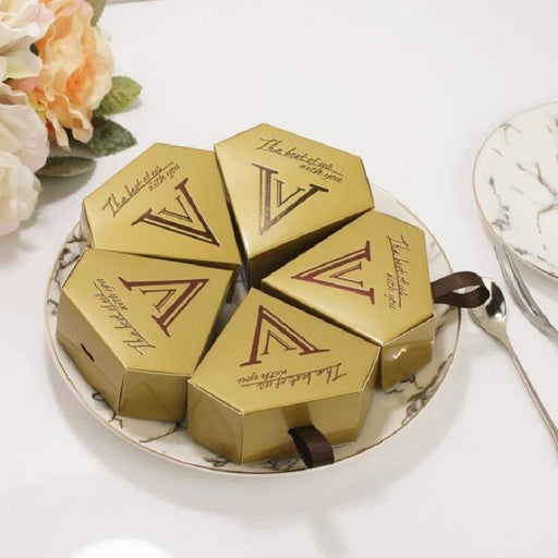 Diamond Ferrero Victory Ribbon Favor Holders | Bridelily - favor holders