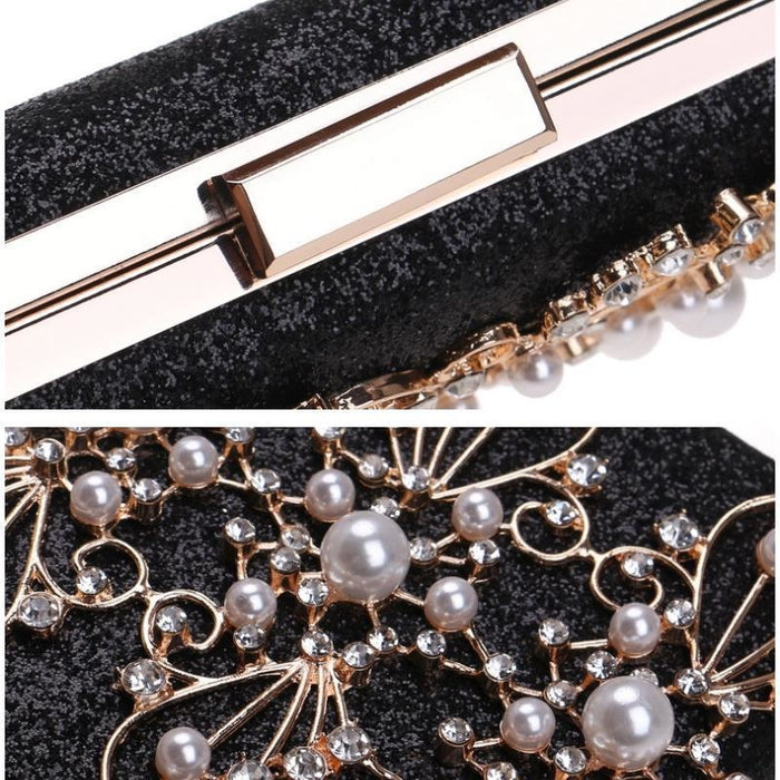 Diamond Totes Pearls Clutches Wedding Handbags | Bridelily - wedding handbags