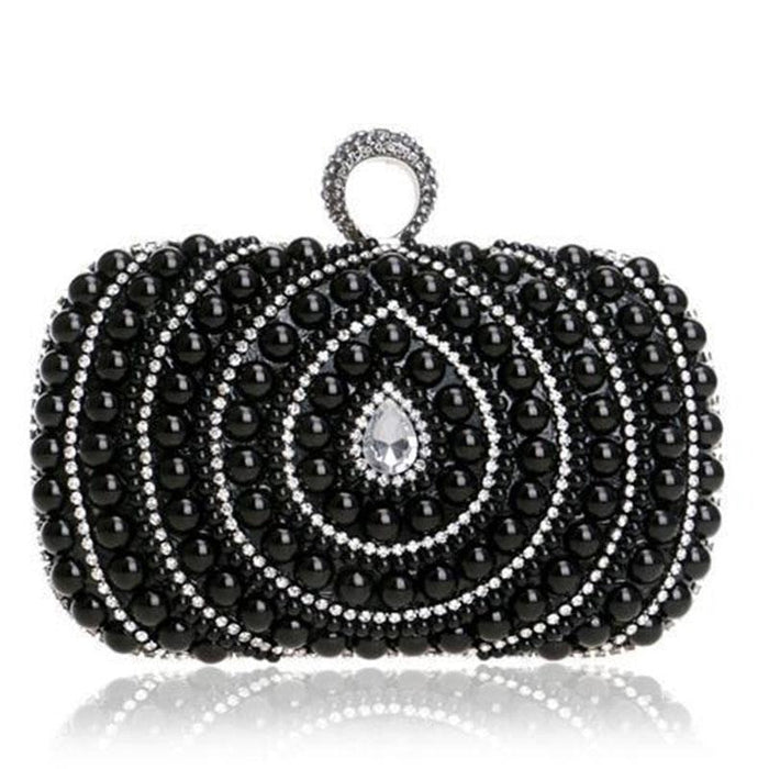 Diamonds Finger Ring Chain Small Wedding Handbags | Bridelily - wedding handbags
