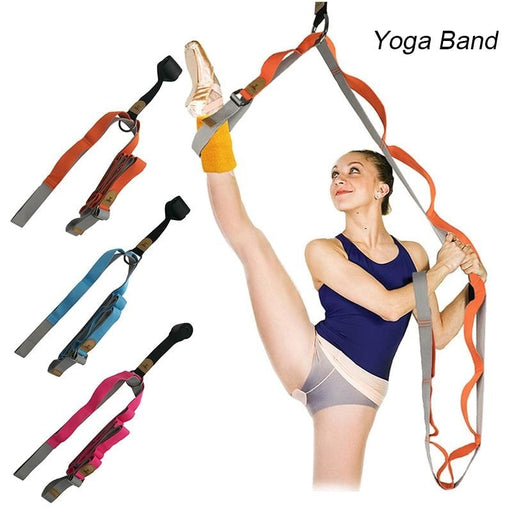 Door Flexibility Stretching Leg Stretcher Strap Gymnastics Trainer Yoga Full Splits Leg Stretch Belt Band - yoga belts
