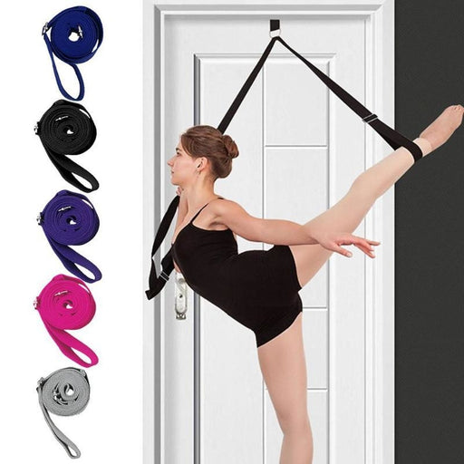 Door Flexibility Stretching Legs Stretcher Strap with Loops Split Training Waist Rope Ligament Stretch Belt - yoga belts