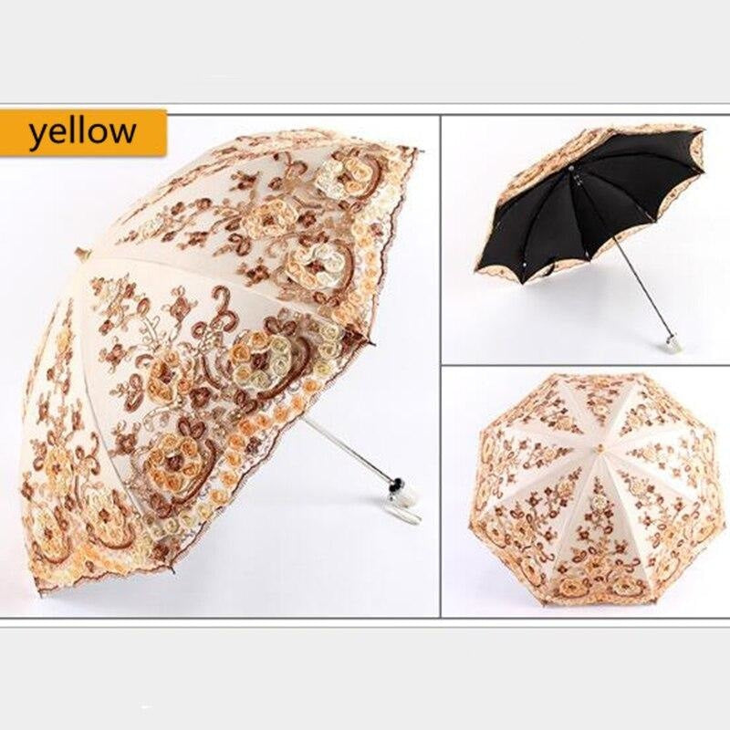 Double Fold Lace Vintage Wedding Umbrellas | Bridelily - wedding umbrellas
