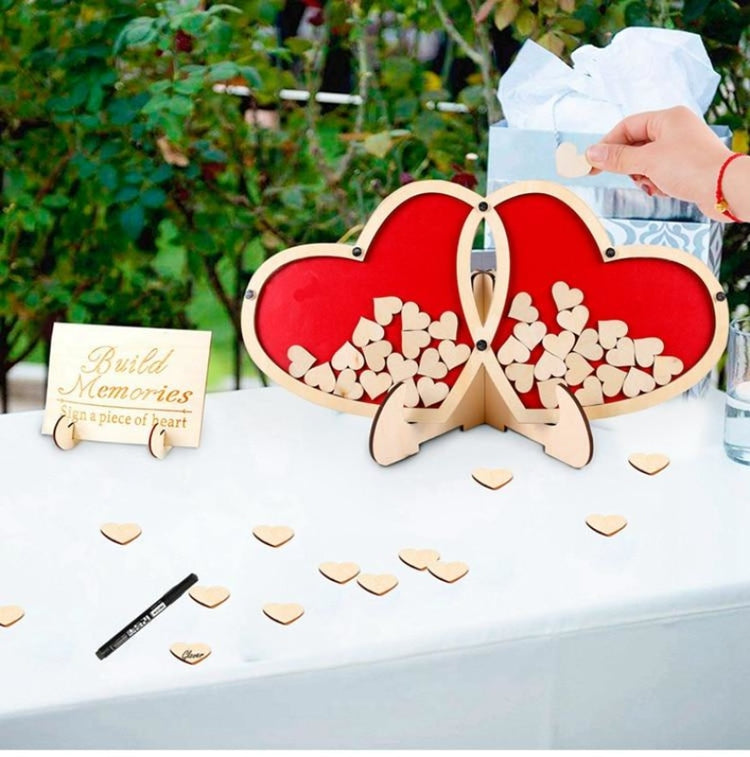 Double Heart Signature Wedding Decorations | Bridelily - wedding decorations