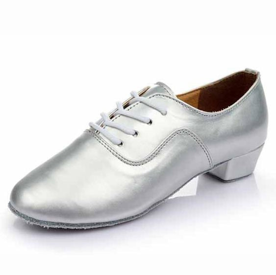 Economic PU Soft Sole Sneakers Jazz Dance Shoes | Bridelily - Silver / 6 - jazz dance shoes