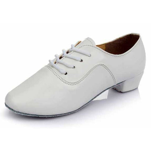Economic PU Soft Sole Sneakers Jazz Dance Shoes | Bridelily - White / 6 - jazz dance shoes