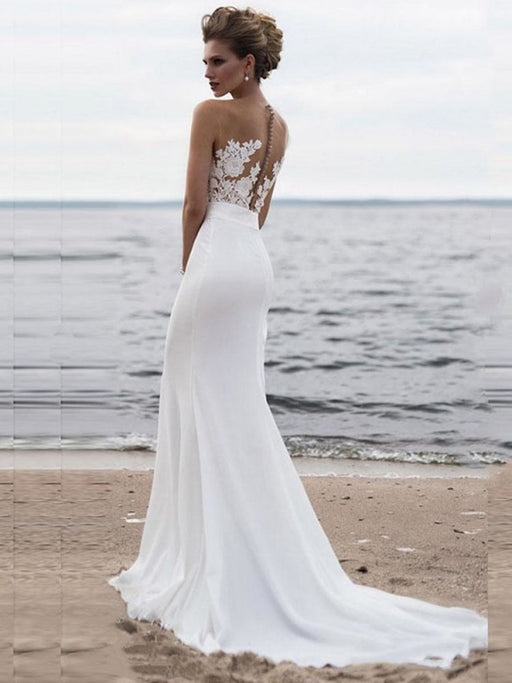 Elegant Appliques Lace Mermaid Wedding Dresses - wedding dresses
