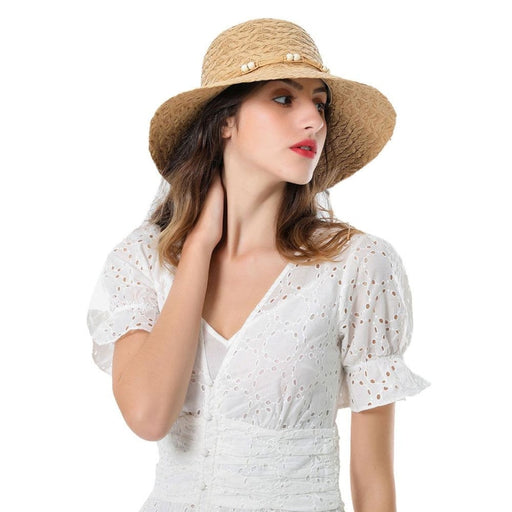 Elegant Bead String Raffia Weaving Straw Hats | Bridelily - straw hats