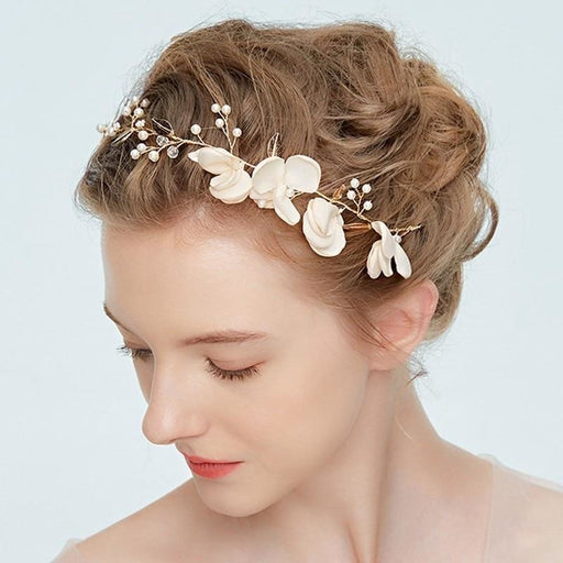 Elegant Beads Handmade Flowers Floral Headpieces | Bridelily - floral headpieces