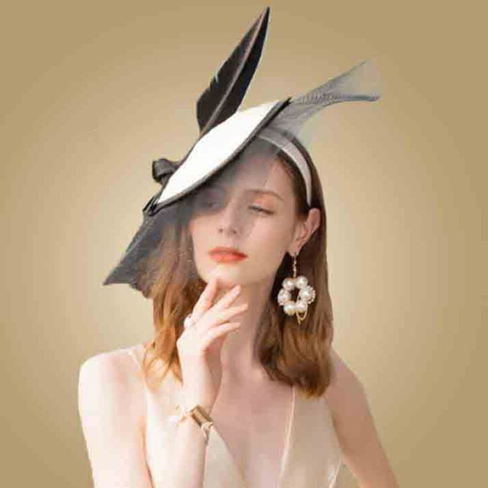Elegant British Feather Veils Tea Party Hats | Bridelily - tea party hats