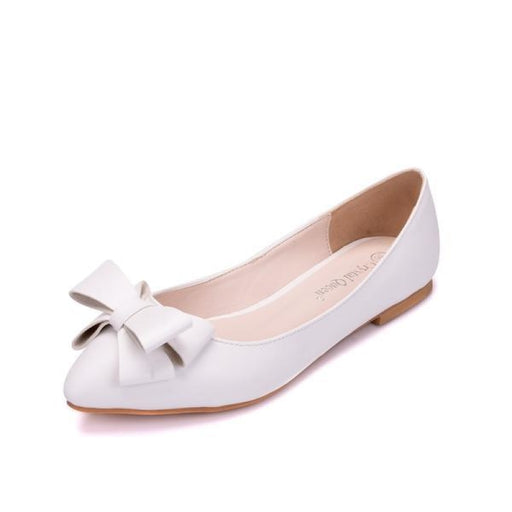 Elegant Butterfly Knot Wedding Flats | Bridelily - wedding flats