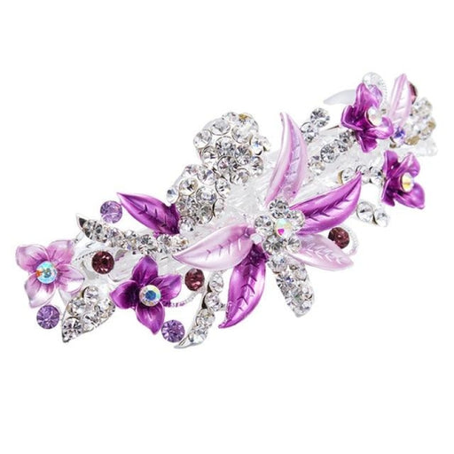 Elegant Crystal Hairpin Flower Girl Accessories | Bridelily - Lavender - flower girl accessories