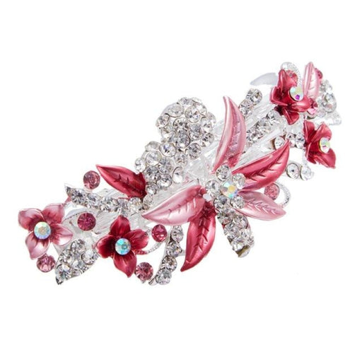 Elegant Crystal Hairpin Flower Girl Accessories | Bridelily - Pink - flower girl accessories