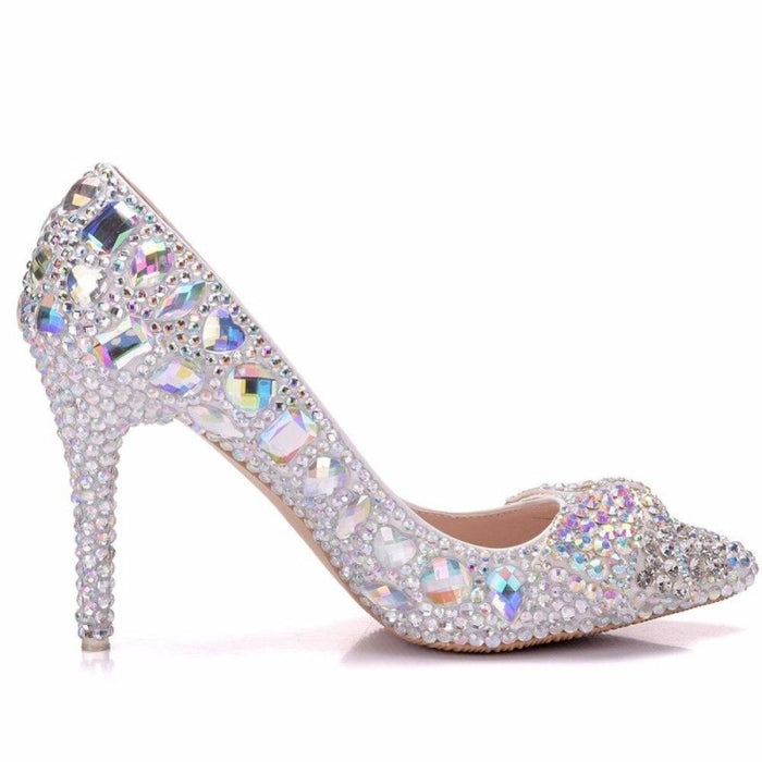 Elegant Crystal High Heel Wedding Pumps | Bridelily - wedding pumps