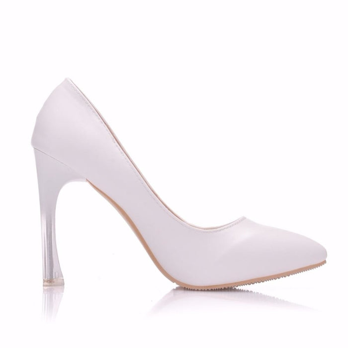 Elegant High Heels Crystal Wedding Pumps | Bridelily - wedding pumps