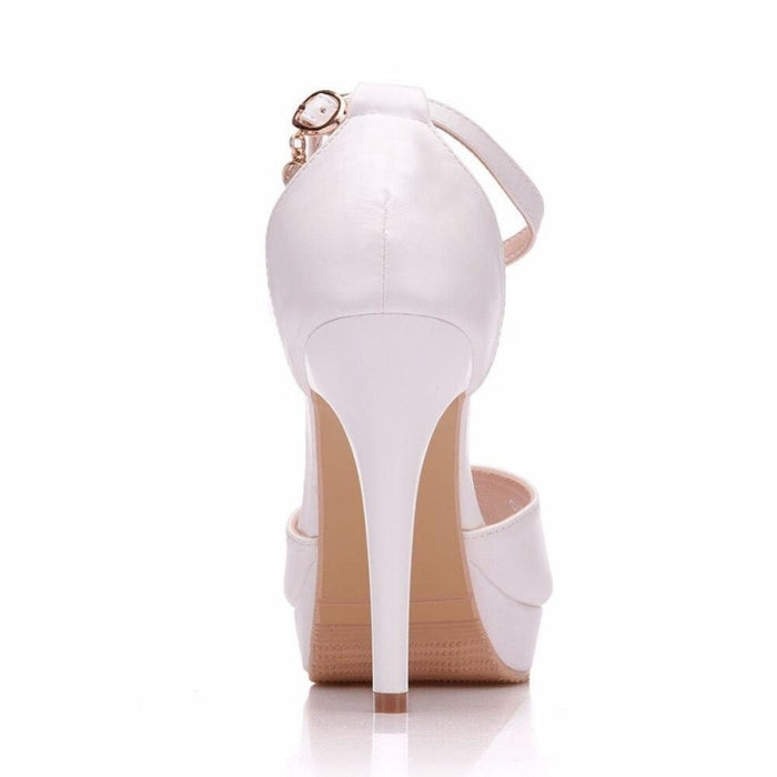 Elegant High Heels Handmade Wedding Sandals | Bridelily - wedding sandals