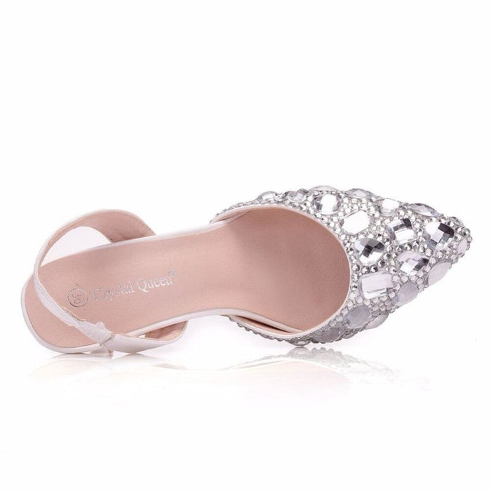 Elegant High Heels Rhinestone Wedding Sandals | Bridelily - wedding sandals